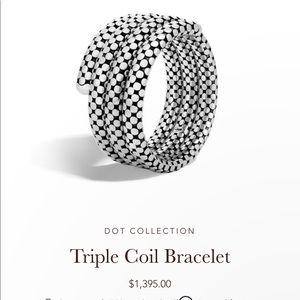 John Hardy Triple Coil Bracelet